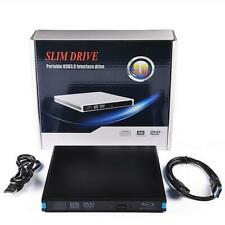 USB3.0 Blu-Ray BD DVD CD Drive Writer Burner Player For Windows 7/8/10 Mac Linux