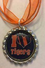 Auburn Tigers Inspired Bottle Cap Necklace AU accessory I ❤ Tigers War Eagle