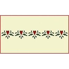 Hearts Border Stencil - Border Stencils- The Artful Stencil