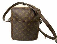 LOUIS VUITTON Vintage Danube Shoulder Bag Monogram Leather M3552 LV E-1091