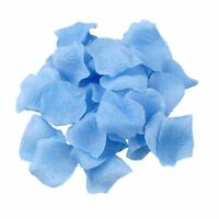 100 Blue Silk Rose Petals Confetti Birthday Anniversary Wedding Party Decoration