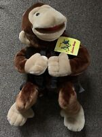 Vintage Curious George Monkey Plush Backpack & Hand Puppet Wildkin