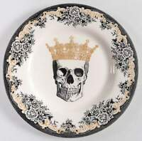 Victorian English Pottery SKULL Salad Plate 11243464