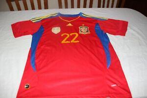 Maillot Football Sélection Espagne Adidas Taille L Du N°22 Jesus Navas T-Shirt