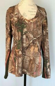 Under Armour Women's Cold Gear Scent Control Realtree Long Sleeve Shirt Size XL