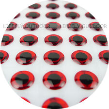 2.5mm Red / Wholesale 1200 Soft Molded 3D Holographic Fish Eyes, Fly Jig Lure