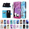 For LG Stylo 5 Stand Phone Case Cover Flip Patterned Leather Strap Card Wallet