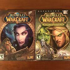World of Warcraft Original Box PC Game w/ Burning Crusade Expansion Set COMPLETE