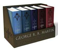 Game of Thrones Book Collection Set Leather Bound George R. R. Martin Set 1-5