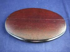 Small Oval Wooden Display Base 6.0 inches in Length.
