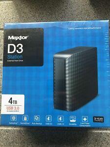 Hard Disc Drive Maxtor D3 4TB USB3 Brand New