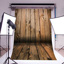 Wood Wall Floor Vinyl Photography Backdrop Background Studio Props 5X7FT QD06
