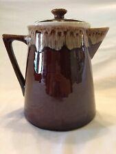 Rulel Ceramic Antique Brown Drip Coffee or Tea Pot #914