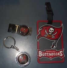 NFL TAMPA BAY BUCCANEERS MONEY CLIP NAME LUGGAGE ID TAG & KEY CHAIN SET