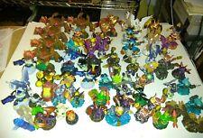 Huge Skylanders Lot 64 Figures 3 Crystals 4 Nintendo Wii Games 8 Portals Bag