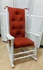 Rocking Chair Cushion Set Indoor / Outdoor Use - Paprika