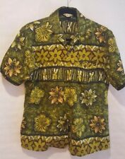 08505bfd Ali'i Lole SMALL MENS SHIRT Green Hawaiian VTG Bowler, Rockabilly, Hipster