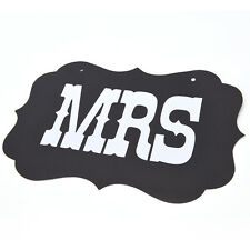 Mr and Mrs Photo Booth AU16 2pcs Chair Signs Wedding Reception Decoration JR