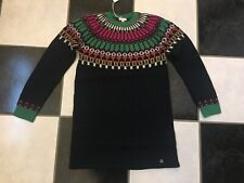 NWT 100% AUTH Gucci Kids Wool Sweater Dress Navy Blue 10Y 388852