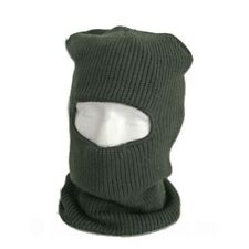 Green fleece lined Balaclava with Eye Holes, Face Mask Hat - Ideal Fishing Gift!