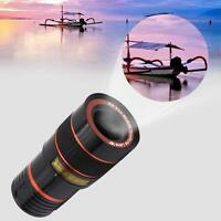 Upgrade Black 8x Zoom Telescope Magnifier Camera Lens w/ Clip for Smart Phone FT