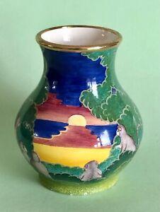 Moorcroft Enamel Vase Millenium Monkeys