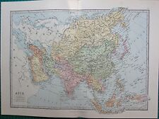 1886 ANTIQUE MAP- ASIA, ARABIA,INDIA,RUSSIA,CHINA,EAST INDIES,JAPAN