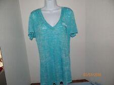 Psalm 4:13 Burnout S/S Tahiti Blue V Neck Shirt Size XL NWT!!