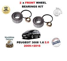pour Peugeot 3008 1.6 2.0 2009- >2016 2 x ROULEMENTS ROUE AVANT KIT