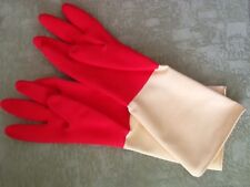 3 Pairs USA Seller Household  Natural Rubber Kitchen Cleaning Washing Gloves Lg