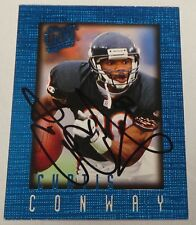 Curtis Conway Signed 1996 Ultra Sensations Blue Bears Football Card 17 Autograph