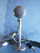 Vintage 1938 Astatic M-3 Crystal harp microphone old antiqu bullet deco w stand
