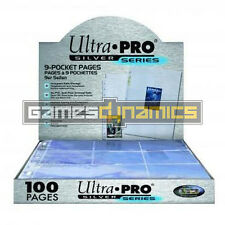 100x ULTRA-PRO Silver 9-Pocket Hüllen, Ordnerseiten, UP