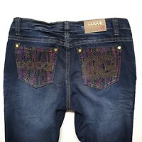 COOGI Australia womens blue jeans, 5/6, dark wash, SPARKLY BACK POCKETS,