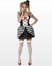 Halloween Cosplay Costume Womens S Cute Sexy Joker Harlequin Checker Franco