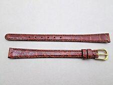 Genuine crocodile lady's watch band strap brown 10mm lug size Long NOS Germany