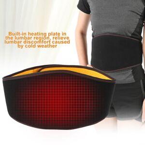Electric Heating Waist Back Brace Support Belt Pad Pain Relief Massager