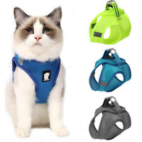 Adjustable Small Dog Cat Harness and Leash set Reflective Safety Puppy Cat Vest