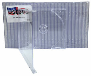 100 USDISC CD Jewel Cases Standard 10.4mm, Single 1 Disc (Clear)