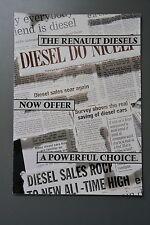 UK Sales Brochure Renault Diesels Clio 19 & 21 Fold Out