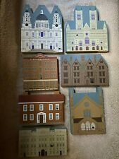 The Cats Meow Giftables Buckingham Palace, Cathedral Series Lot of 7 Storefronts