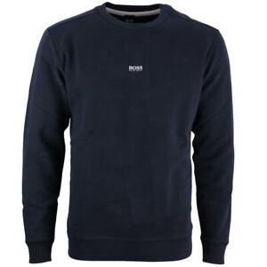 Hugo BOSS Herren Sweat Pullover dunkel blau Weevo 50418949 404 dark blue