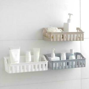 Bathroom Kitchen Shelf Suction Cup Rack Organizer Storage NW Basket Shower P2J0