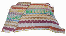 MISSONIHOME TWO OXFORD PILLOW CASES COTTON SATEEN EURO SIZE RUDOLPH 100