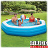 Inflatable Swimming Pool 9' Family Kid Adult Fun Backyard Round Above Ground New