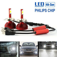 H4 9003 HB2 60W 6000LM Car LED Headlight Kit Hi/Lo Beam Bulbs 6000K White NewA