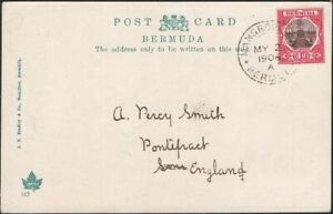 BERMUDA, 1906. Picture Post Card 9, Mangrove Bay - Pontefract, England
