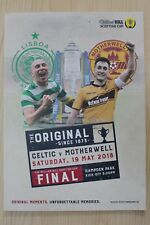 2018 SCOTTISH CUP FINAL PROGRAMME *CELTIC V MOTHERWELL* (19/05/2018)