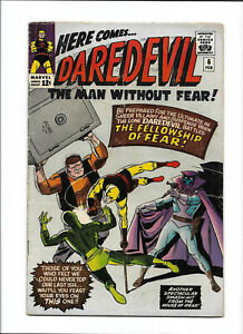 """DAREDEVIL #6 [1965 VG] """"THE FELLOWSHIP OF FEAR!"""""""