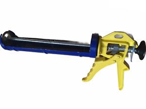 shomox Heavy Duty Silicone Sealant Gun Dripless Trigger Mastic Caulk